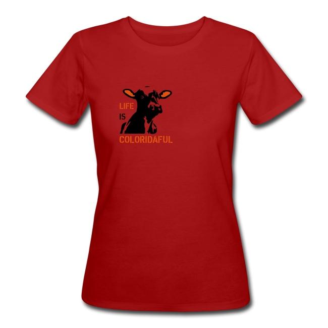"T-Shirt ""Coloridaful"" bio Girlie"