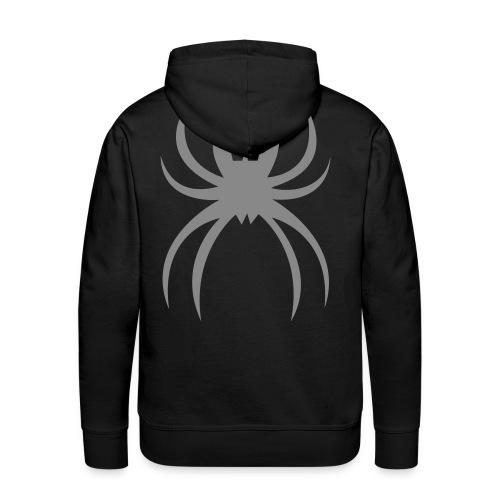 Silver Spider, Hoodie, black, B - Men's Premium Hoodie