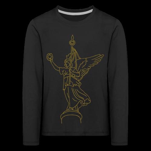 Goldelse auf der Siegessäule (gold) - Kinder Premium Langarmshirt