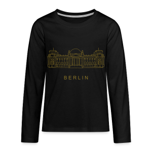 Bundestag in Berlin (gold) - Teenager Premium Langarmshirt