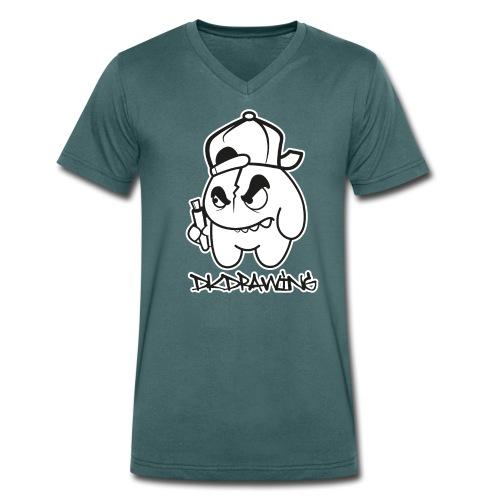DKDrawing Graffiti Character V-Neck Shirt White Label - Men's Organic V-Neck T-Shirt by Stanley & Stella