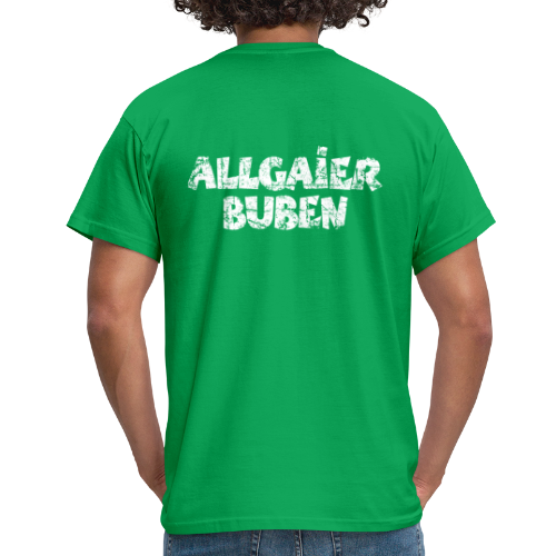 Allgaier Buben T-Shirt (Herren/Grün) Rücken - Männer T-Shirt