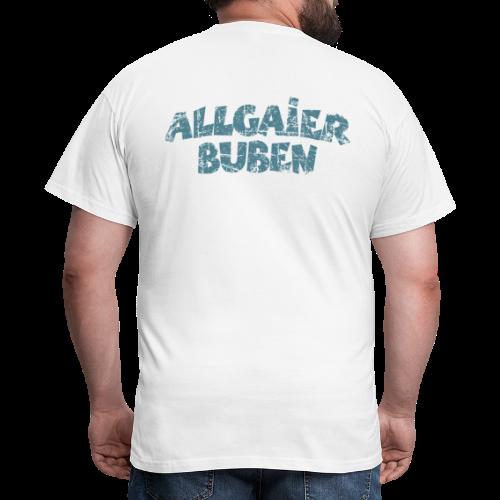 Allgaier Buben T-Shirt (Herren/Weiß) Rücken - Männer T-Shirt