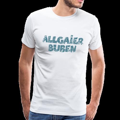 Allgaier Buben T-Shirt (Herren/Weiß) - Männer Premium T-Shirt