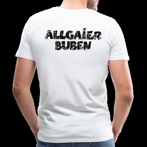 Allgaier Buben T-Shirt (Herren/Weiß) Rücken - Männer Premium T-Shirt