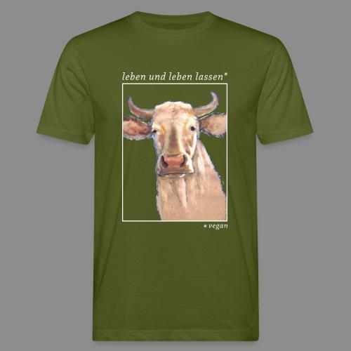 Heilige Kuh - vegan - Männer Bio-T-Shirt