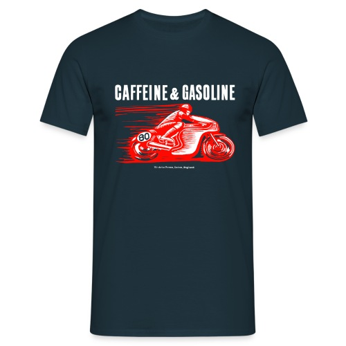 Blokes' Caffeine & Gasoline Tee-Shirt in Black - Men's T-Shirt