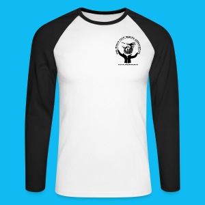 Men's Long Sleeve Two Tone, with black logos front and back (Choice of colours) - Men's Long Sleeve Baseball T-Shirt