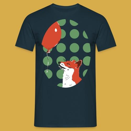 Fuchs mit Luftballon - Männer T-Shirt