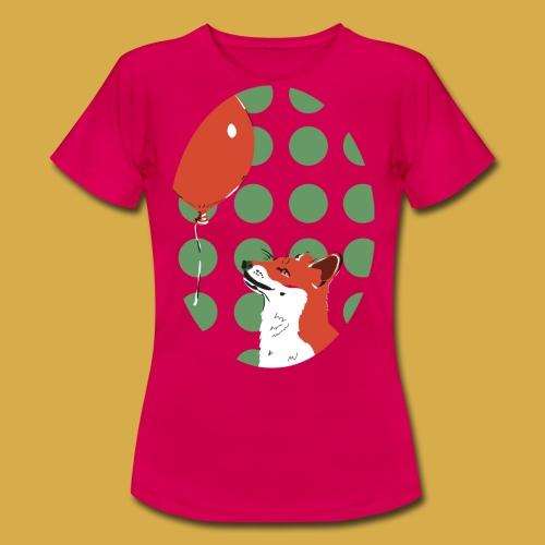 Fuchs mit Luftballon - Frauen T-Shirt