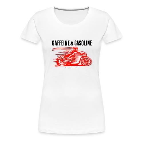 Girls Caffeine & Gasoline tee-shirt in white - Women's Premium T-Shirt