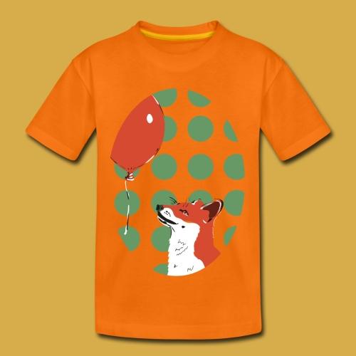 Fuchs mit Luftballon - Kinder Premium T-Shirt
