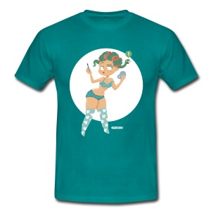 Pin-Up Medusa - Männer T-Shirt