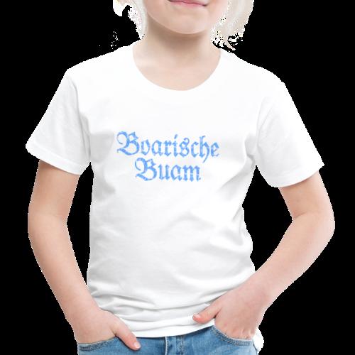 Boarische Buam T-Shirt (Kinder/Weiß) - Kinder Premium T-Shirt