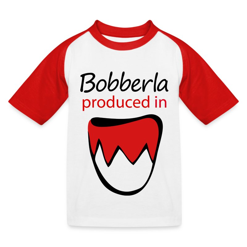 1_bobberla_weiss - Kinder Baseball T-Shirt