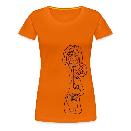 Spider Orange - T-shirt Premium Femme