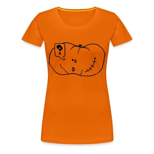 What? Orange - T-shirt Premium Femme