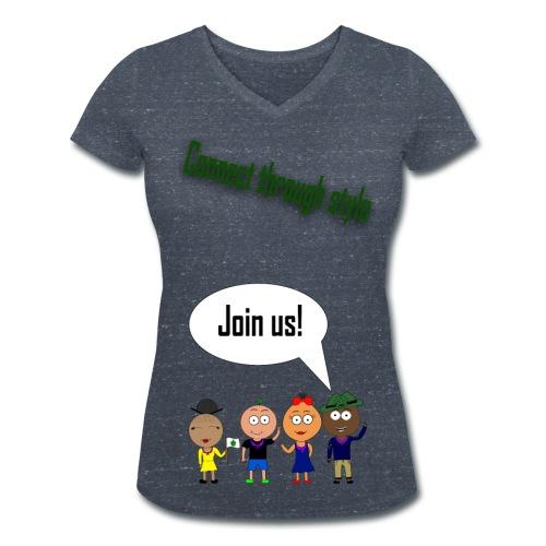 JOIN US - Splintergrey V-neck F - Økologisk Stanley & Stella T-shirt med V-udskæring til damer