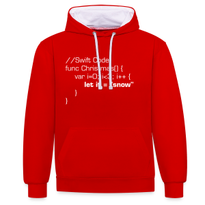 let it snow Pullover (Swift) [Motiv auf Vorderseite] - Kontrast-Hoodie