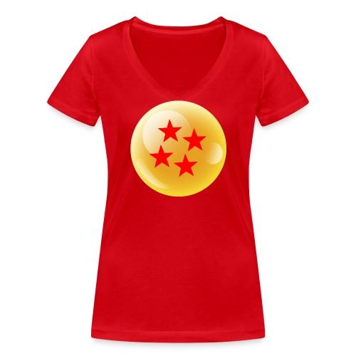 Camiseta Bola 4 Dragonball - Camiseta ecológica mujer con cuello de pico de Stanley & Stella