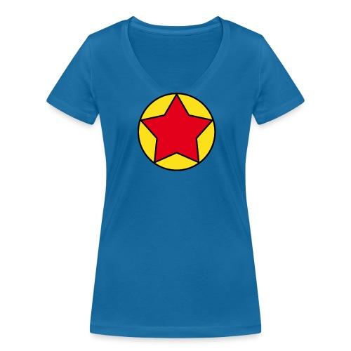 Camiseta Pilaf Dragonball - Camiseta ecológica mujer con cuello de pico de Stanley & Stella