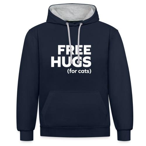 Trui free hugs - Contrast hoodie