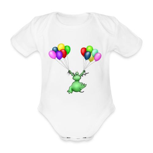 Baby bio-rompertje met korte mouwen