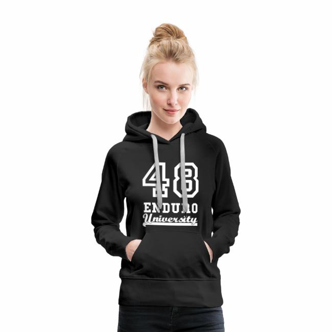 1e880c2782384 Sweat shirt Femme Enduro University Marquage blanc velours