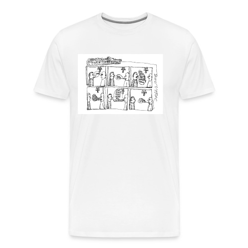 Continuous Line Cartoon T-Shirt by Sam Backhouse - Men's Premium T-Shirt