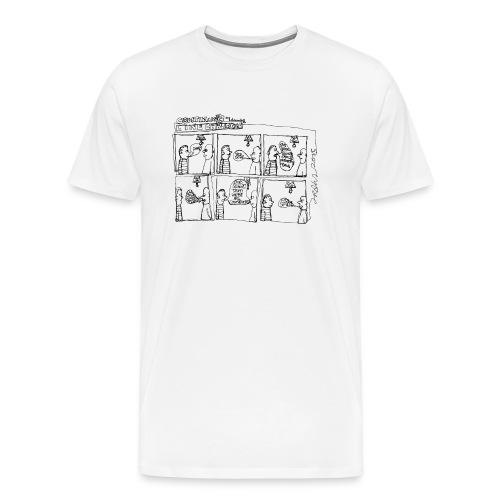 Continuous Line Cartoon T-Shirt by Sam Backhouse - Men's Premium T-Shirt