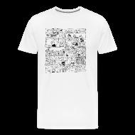 T-Shirts ~ Men's Premium T-Shirt ~ Evil Olive Homework Cartoon T-Shirt by Sam Backhouse