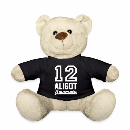 Ourson Teddy 12 Aligot University marquage blanc - Nounours