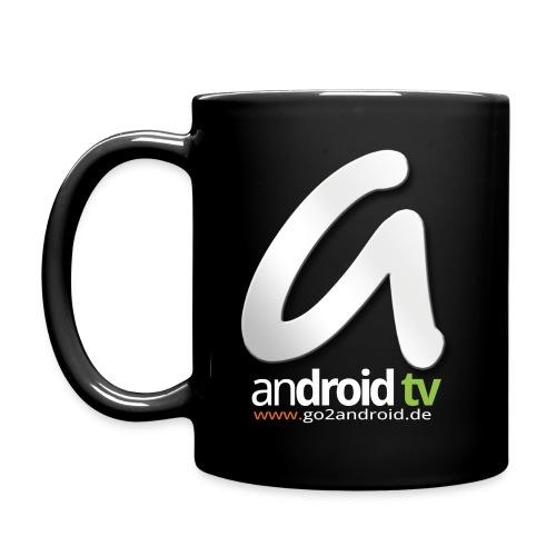 android tv Kaffeetasse black (10 Euro Unterstützung) - Tasse einfarbig