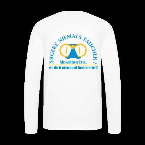 Premium-Longshirt (Unisex) mit 2-farbigem Flexdruck! - Männer Premium Langarmshirt