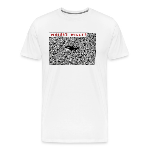 Where's Willy T-Shirt Sam Backhouse - Men's Premium T-Shirt