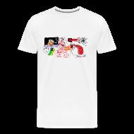 T-Shirts ~ Men's Premium T-Shirt ~ Computer Drawn Doodle T-Shirt Sam Backhouse