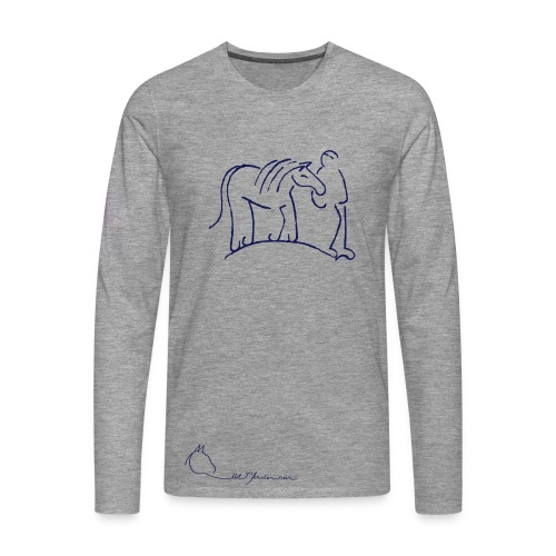 Walking Together & LOGO-Schriftzug Men Longsleeves (Print: Dark Blue) - Männer Premium Langarmshirt