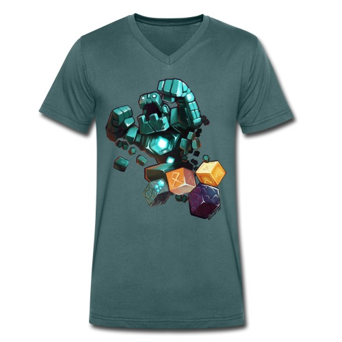 Hero on a Tshirt - Men's Organic V-Neck T-Shirt by Stanley & Stella