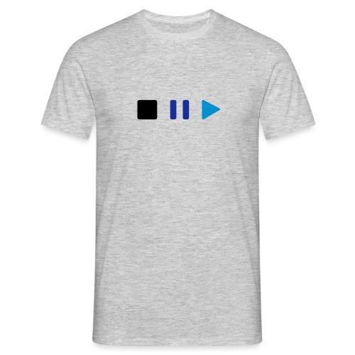Herren Premium T-Shirt Stop Pause Play - Männer T-Shirt