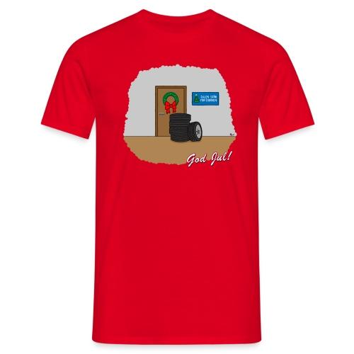 Trevlig jultröja - Hjulen står för dörren - Klassisk t-shirt - T-shirt herr