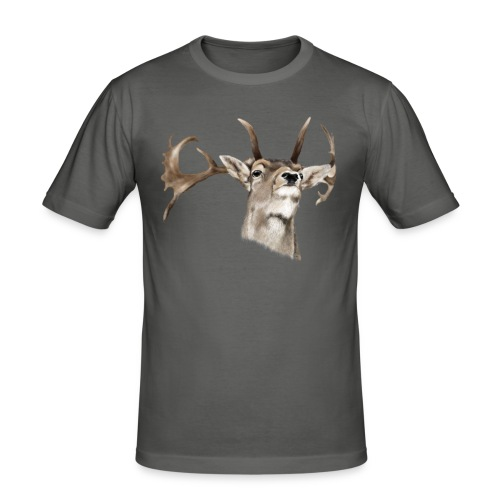 Hirsch - Männer Slim Fit T-Shirt