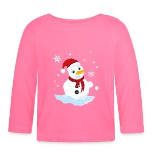 T-Shirt Bébé Bonhomme de Neige - T-shirt manches longues Bébé
