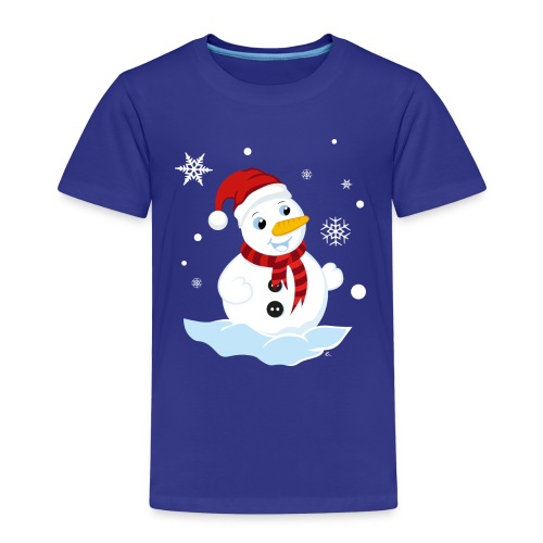 T-Shirt Enfant Bonhomme de Neige - T-shirt Premium Enfant