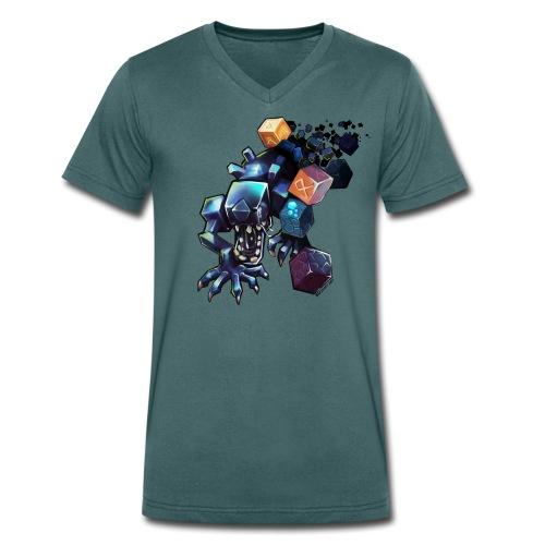 Alien on a Tshirt - Men's Organic V-Neck T-Shirt by Stanley & Stella
