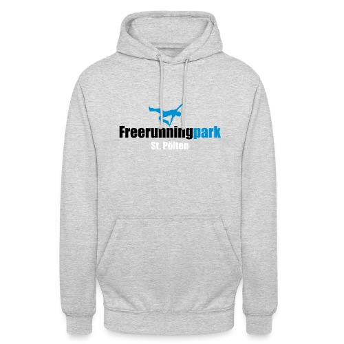 Unisex Hoodie - Mit dem Kauf dieses Shirts unterstützen sie den Freerunningpark St. Pölten. Mit jedem gekauften Shirt geht eine 5 Euro-Spende an die Austrian Freestyle Federation, die sich um die Instandhaltung und Wartung kümmert und sich für zukünftige Erweiterungen und Verbesserungen engagiert.