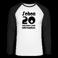 20. Geburtstag Männer Baseball Shirt - Schon 20 Spruch