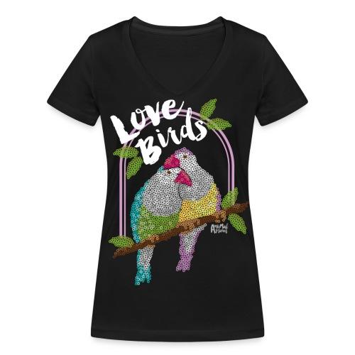 Wellensittich - Frauen Bio-T-Shirt mit V-Ausschnitt von Stanley & Stella