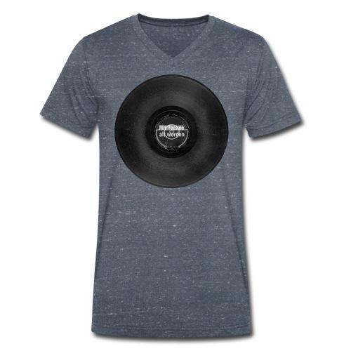 Mit Techno alt werden Vinyl - Männer Bio-T-Shirt mit V-Ausschnitt von Stanley & Stella