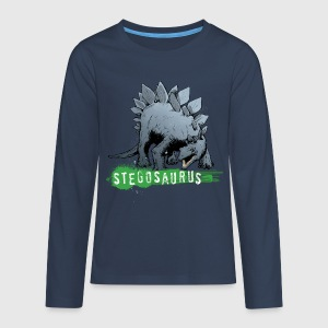 Animal Planet teenage T-shirt langærmet Stegosaur - Teenager premium T-shirt med lange ærmer