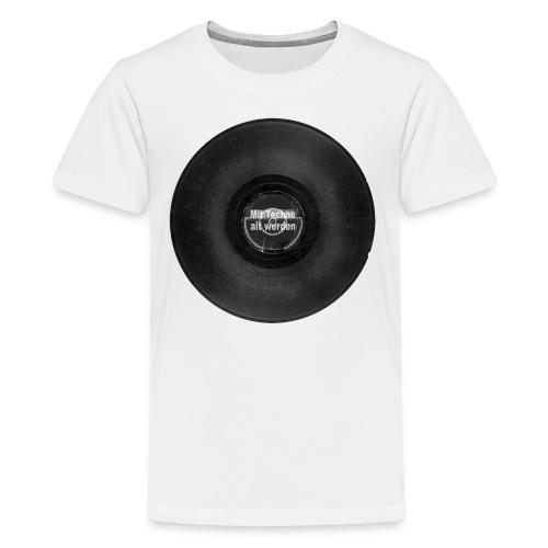 Mit Techno alt werden Vinyl - Teenager Premium T-Shirt